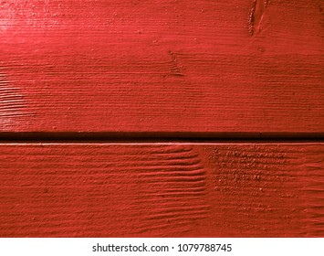 Red wall from a natural wood. Texture and background. Interior Design
