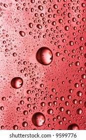 red water drop for background
