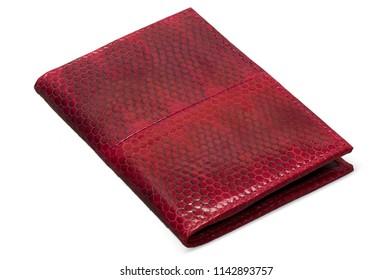 Red water snake skin wallet