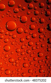 Red water texture. Water collection.