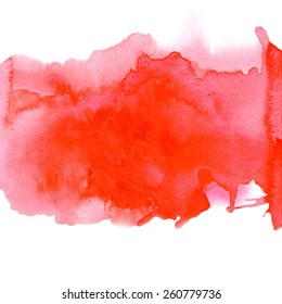 Red watercolor background for textures and backgrounds