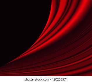 red waves, light and shadow for abstract background