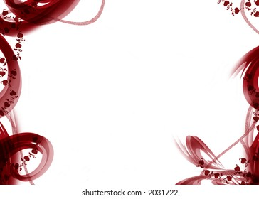 red white background of love with ornaments and hearts