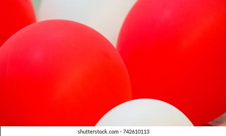 Red White Balloons Were On White Stock Photo Edit Now 742591186