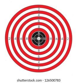 Red / white / black shooting target
