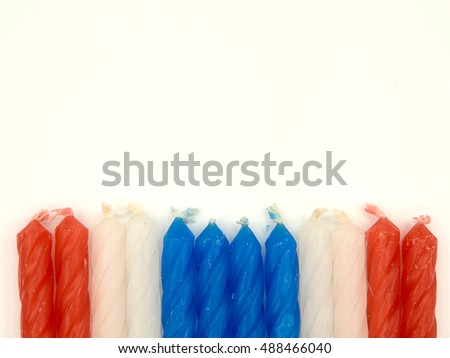 Red White Blue Color Candles Design Stock Photo Edit Now 488466040