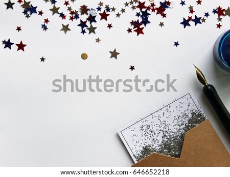 Red White Blue Star Confetti Frames Stock Photo Edit Now 646652218