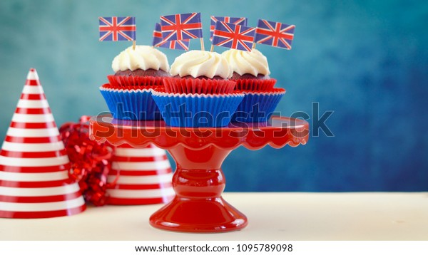 Prime Red White Blue Theme Cupcakes Cake Stock Photo Edit Now 1095789098 Funny Birthday Cards Online Alyptdamsfinfo