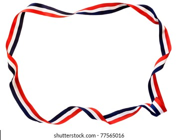 Red, white & blue twisted ribbon border