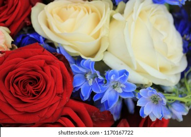 Red white blue wedding flowers patriotic stock photo edit now red white and blue wedding flowers for a patriotic themed wedding mightylinksfo