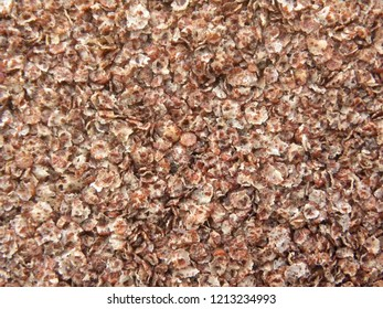 Red and white color finger millet flakes