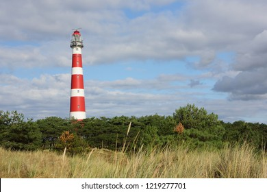 Red and White lighthouse. The netherlands - Ameland.