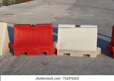 Plastic Road Barriers Images, Stock Photos & Vectors