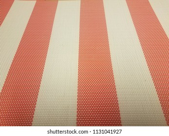 red and white placemat