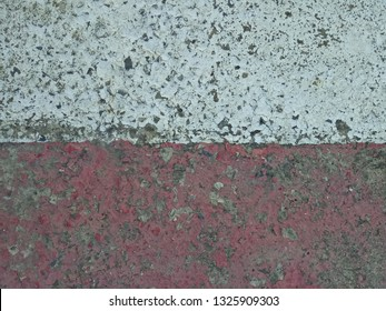 Red and white road background texture