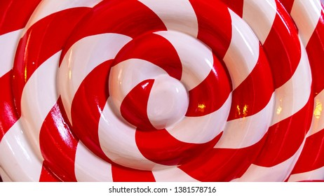 Red and white sweet candy lolipop