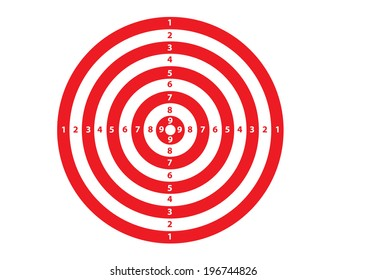A Red and White Target