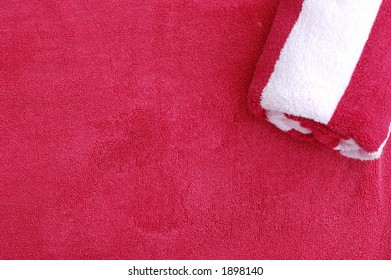 Red and white Towel Background