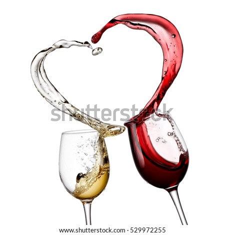 a9003c56c067 Red White Wine Heart Splash Stock Photo (Edit Now) 529972255 ...