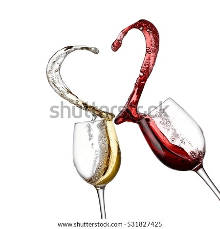 2bc1b7a2e63b Red White Wine Splash Heart Stock Photo (Edit Now) 531827425 ...