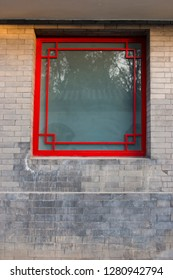 Red window and characteristics of brick restoring ancient ways.
