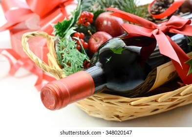 red wine bottle for Christmas party