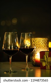 red wine and candles