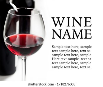 Red wine design - isolated text