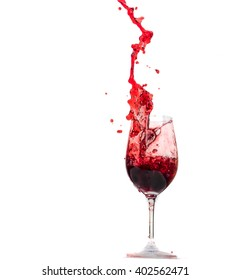red wine in wine glass