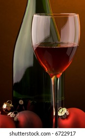 red wine glass bottle christmas decoration