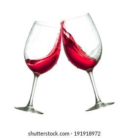 Gafas de vino tinto