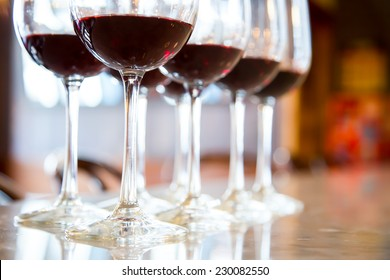 Red wine Glasses for wine tasting