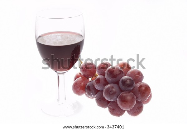 Red wine with grape