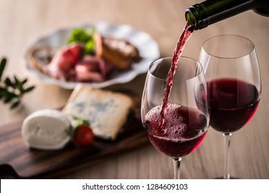 Vin rouge et cuisine italienne