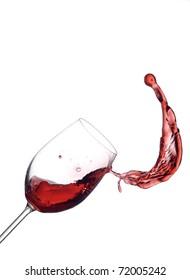 Red wine little splash