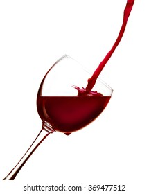 red wine poured into a glass