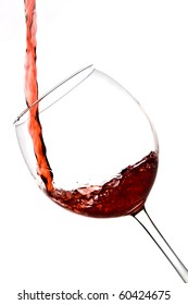 red wine pouring wineglass