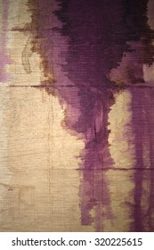 Red wine stain running down barrel