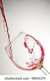 red wine stream flows