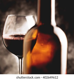 red wine - vintage style photo