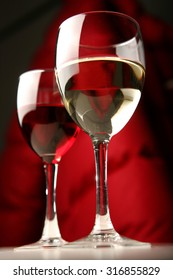 Red  wite wine glases