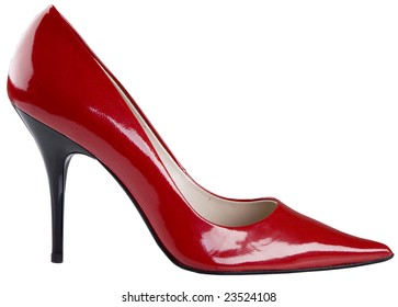 red woman fashion shoes