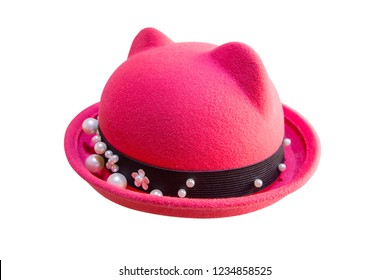 Red woman hat