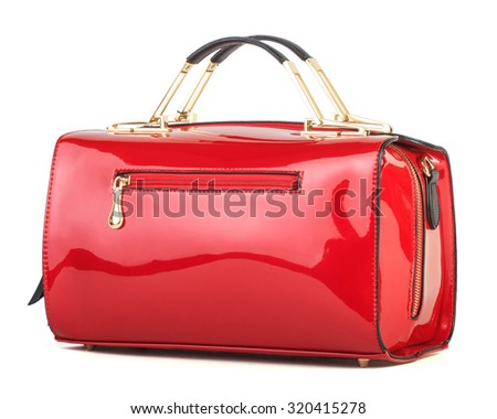 7ac5b2f09db4b Red Women Bag Isolated On White Stock Photo (Edit Now) 320415278 ...