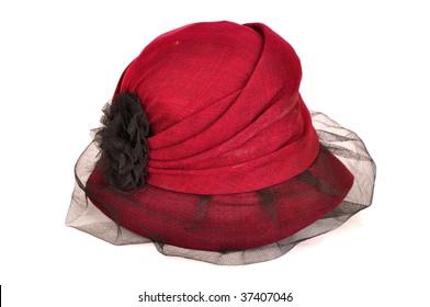 red women hat
