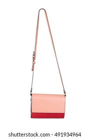 Red women purse, with clipping path