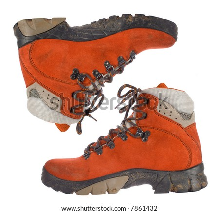 22f9afe1ee Red Women Trekking Boots Side View Stock Photo (Edit Now) 7861432 ...