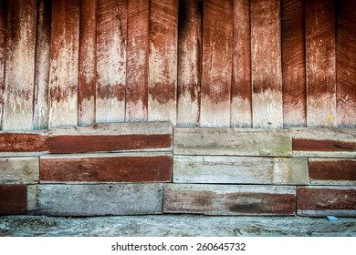 Red Wooden Planks Texture Background