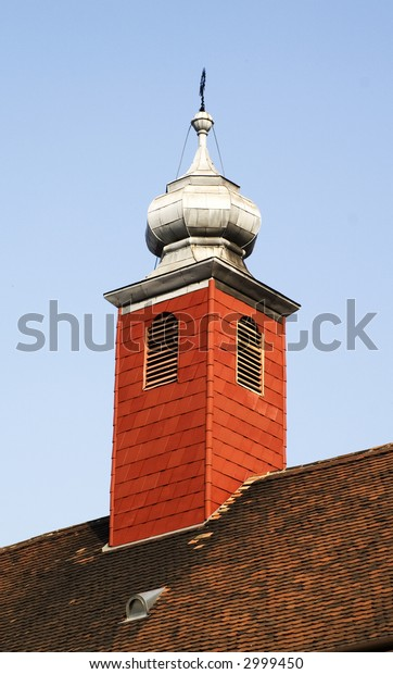 Red wooden tower
