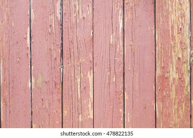 Red wooden vertical planks background old